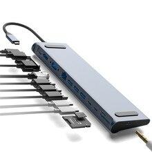 Bakeey 12 In 1 Usb Type C Hub Naar Hdmi RJ45 Multi Usb 3.0 Power Adapter Voor macbook Pro Docking Station Voor Laptop