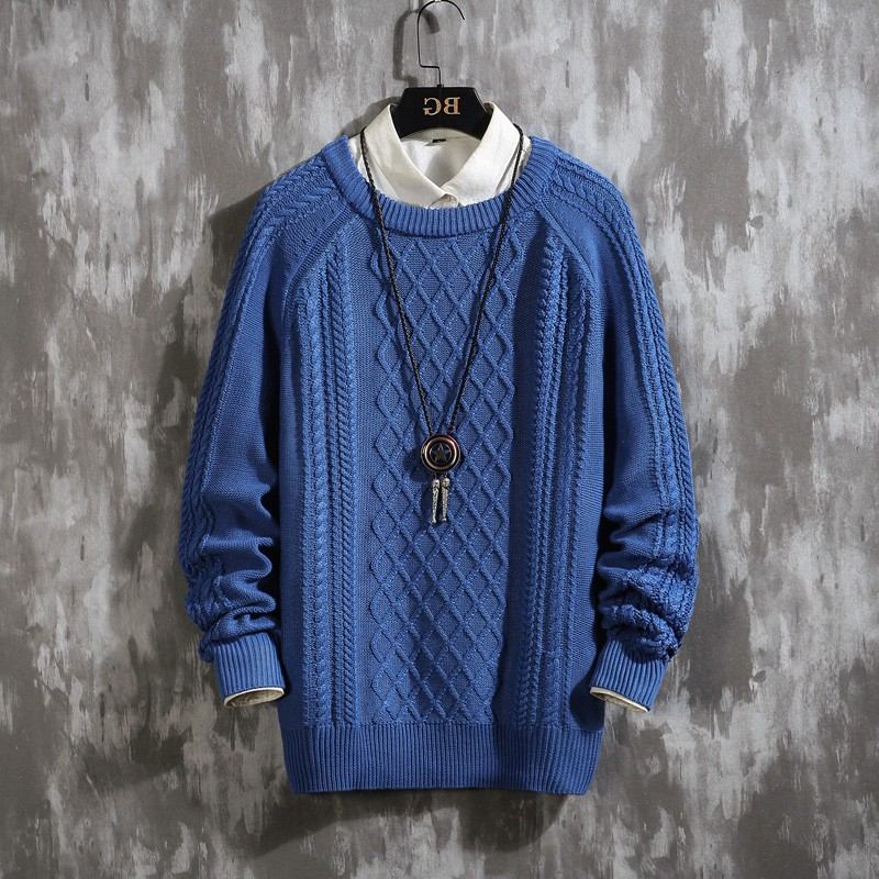 2019 New Knit Sweater Men Long Sleeves Autumn Winter Pullover Knitted O-Neck Plus Asian Size 5XL