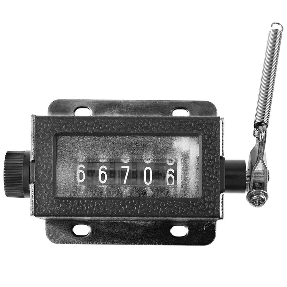 Mechanical Tally Counter Manual 5 Digit 0-99999 Resettable Pulling Stroke Clicker  D67-F Sports Industry Pulling Tally Counter