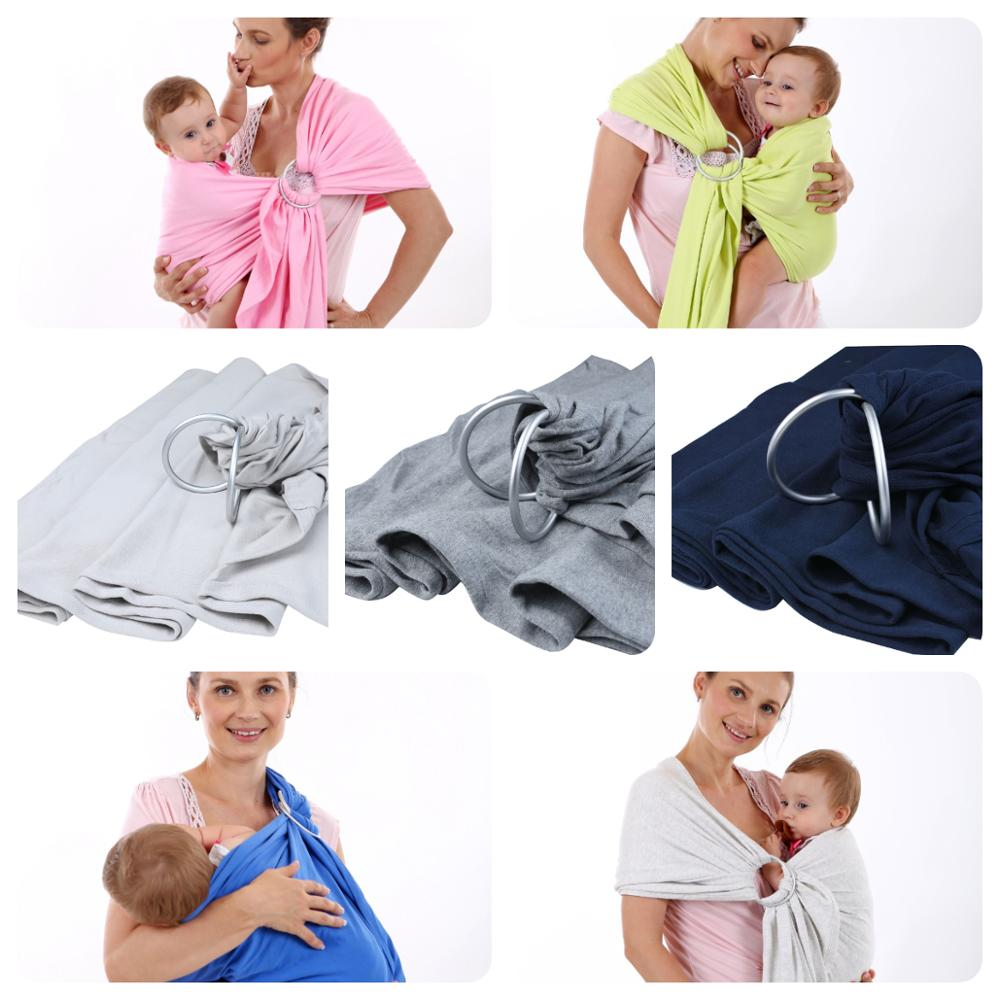 Soft Baby Sling With Ring Baby Straps Hot Selling Oxidation Metal Ring Multi-functional Infant Baby Carrier Handsfree Sling