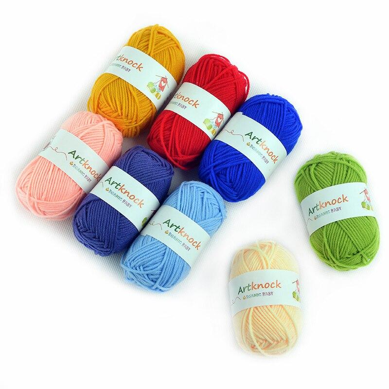 60pcs Hand Knitting Yarn Cotton Organic Knit Crochet Yarn For Knitting Sweater Socks Cheap Wholesale