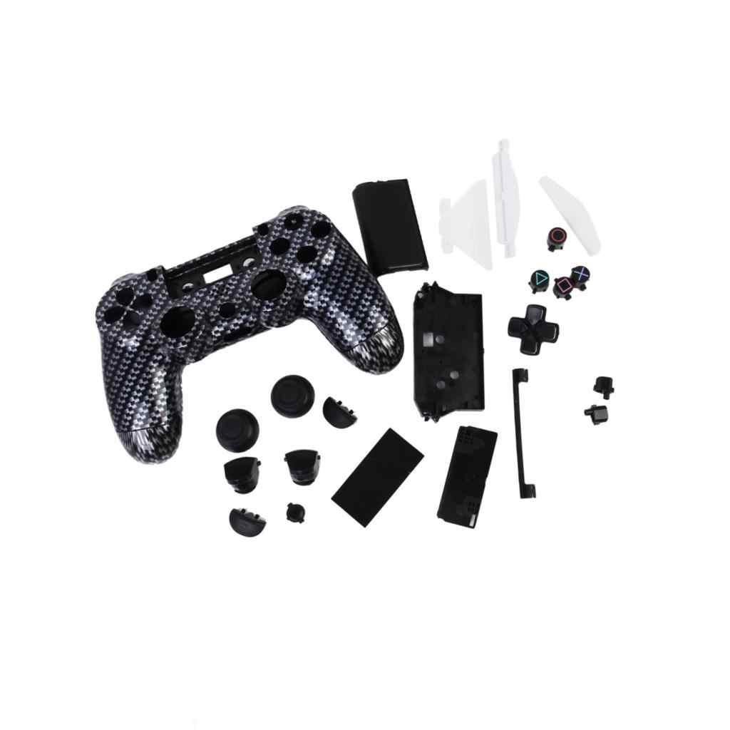 交換フルハウジングシェルケースカバーとボタンの Mod キット PlayStation4 PS4 ワイヤレスコントローラーブラック
