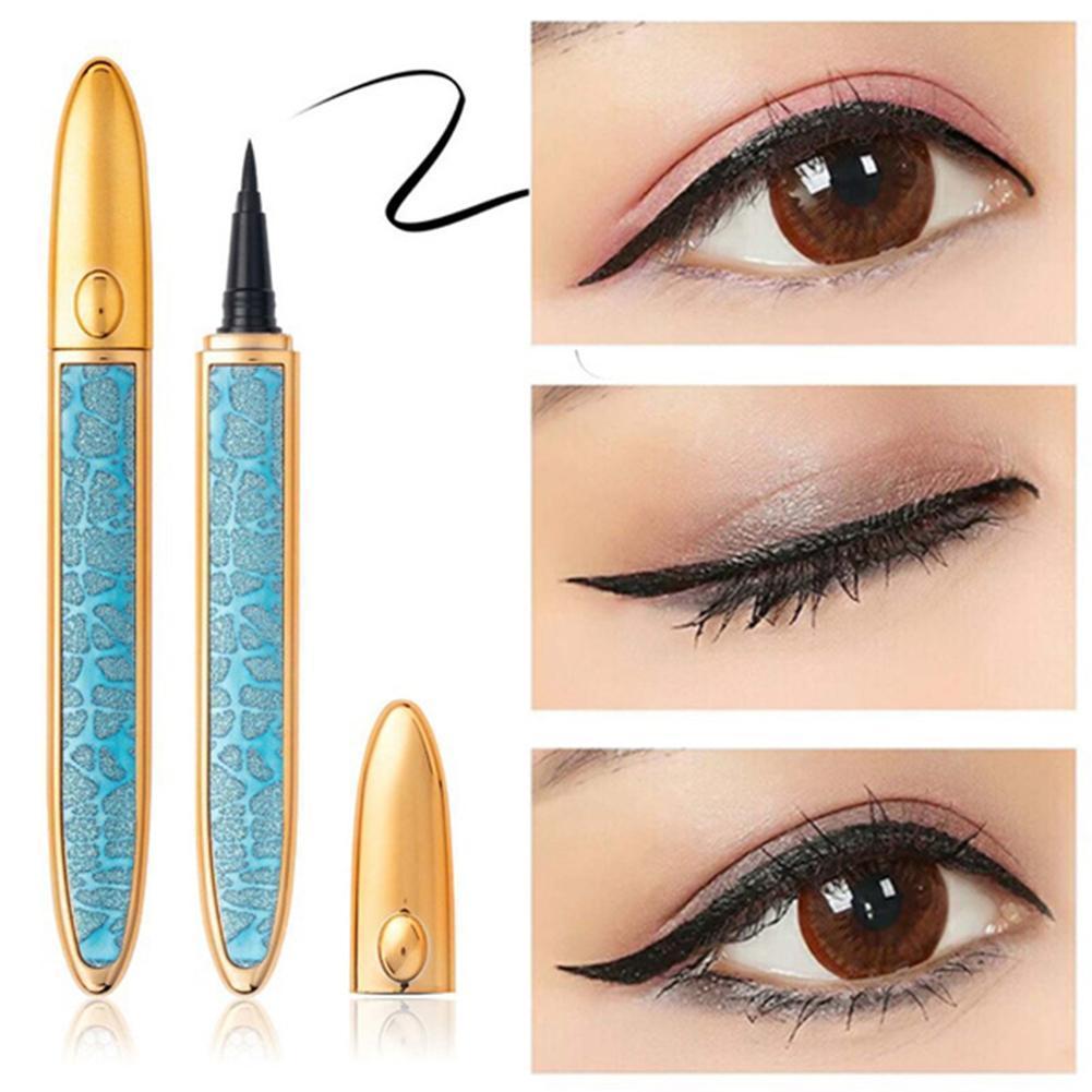 Magic Self-adhesive Liquid Eyeliner Pencil Glue-free Magnetic-free For Eyelashes Waterproof Eye Liner Pen Makeup Cosmetic