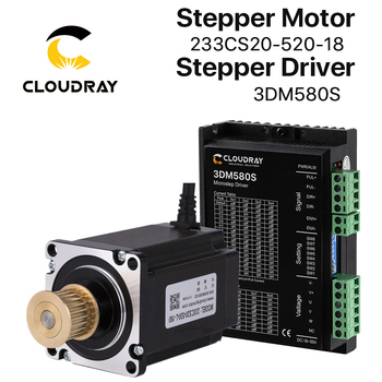 Cloudray Nema 23 Stepper Motor Driver Kit 3 Phase Stepper Motor 1.0N.m/2.0N.m with GEAR for CNC Router Engraving milling machine 5 1 10 1 nema23 gear stepper motor 112 mm motor body length nema 23 gearbox stepper