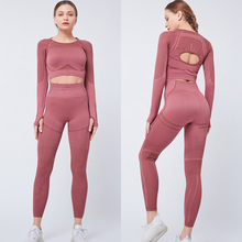 Workout Set 2 Pieces Set Women Sport Suits Solid Slim Yoga Set Fitness Yoga Tops With Yoga Pants Gym Sportswear Ropa Deportiva 2016 3 pieces women fitness yoga set jacket