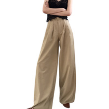 2019 In The Spring of New Joker Mopping Floor Wide Leg Long Pants Fashion High Waist Loose Casual Women