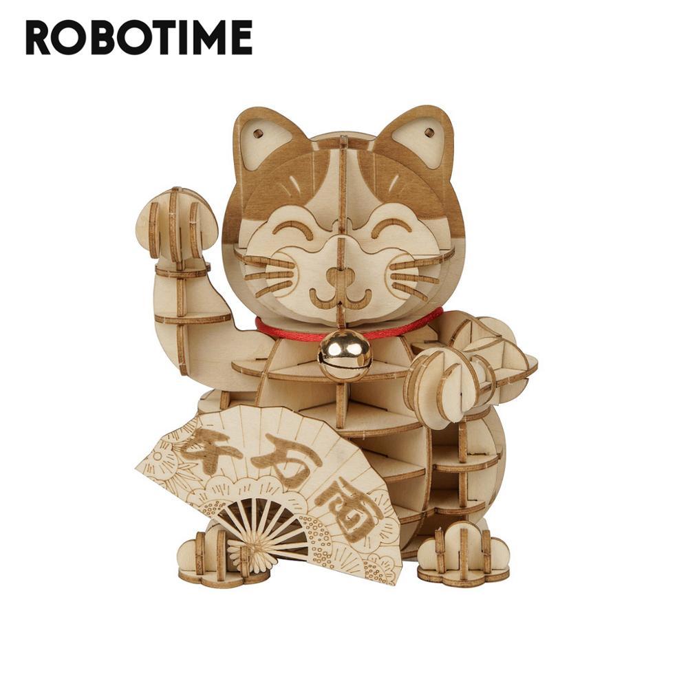 Robotime-jouet pour enfants et adolescents, nouvelle collection de Puzzle 3D en bois, jeu de Puzzle, assemblage bateau, cadeau pour enfants et adolescents TG303