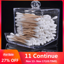 Acrylic Cotton Swabs Storage Holder Box Transparent Makeup Cotton Pad Case Cosmetic Container Jewelry Organizer and Candy Jars(China)