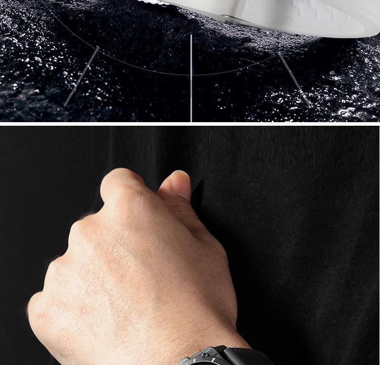 Hf593f10477794804a2c960a740891937E Eutour magnetic watch parallel time and space black technology men's couple wristwatch women's wristwatch personality gel wristb