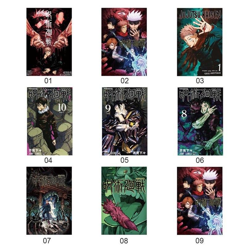 Аниме: Шелковый плакат Jujutsu Kaisen, настенный плакат, прокрутка, декор для комнаты, косплей, классическое японское аниме, постер для спальни Рисование и каллиграфия      АлиЭкспресс