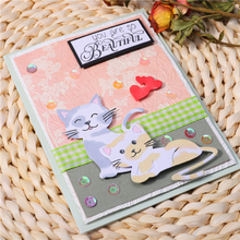 InLoveArts Cat Animal Dies Heart Metal Cutting Dies for Card Making Scrapbooking Embossing Cuts Album Craft New 2019 for Dies inlovearts christmas dies tree metal cutting dies new 2019 for card making scrapbooking embossing album craft frame die cuts