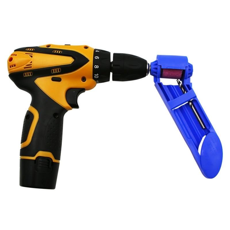 Portable Drill Bit Sharpener Corundum Grinding Wheel Portable Powered Tool For Drill Polishing Wheel Drill Bit Sharpener Z