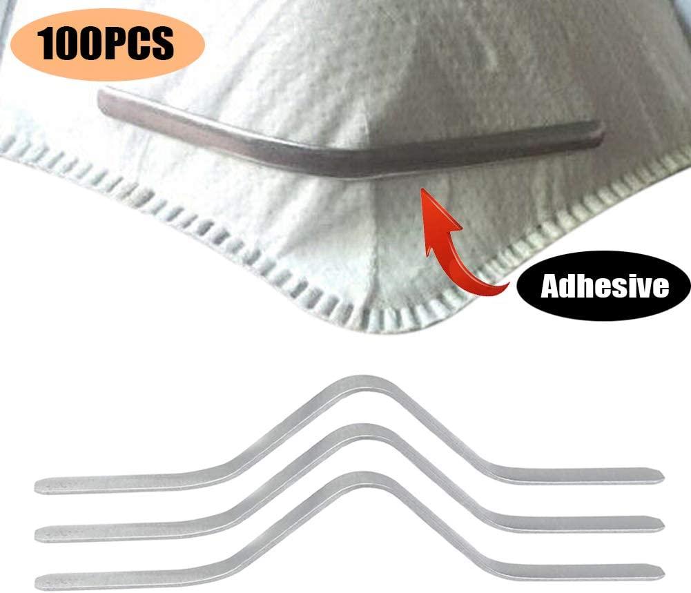 100Pcs 90mm Adhesive Aluminum Nose Bridge, Aluminum Strip,Nose Bridge,Nose Clips For Face DIY Making Accessories Crafts