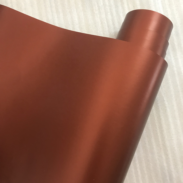 Brown Matt Metallic Vinyl Film Chrome Coffee Metallic Car Wrap Foil With Air Release Sticker Film Motorcycle Wrapping Decal