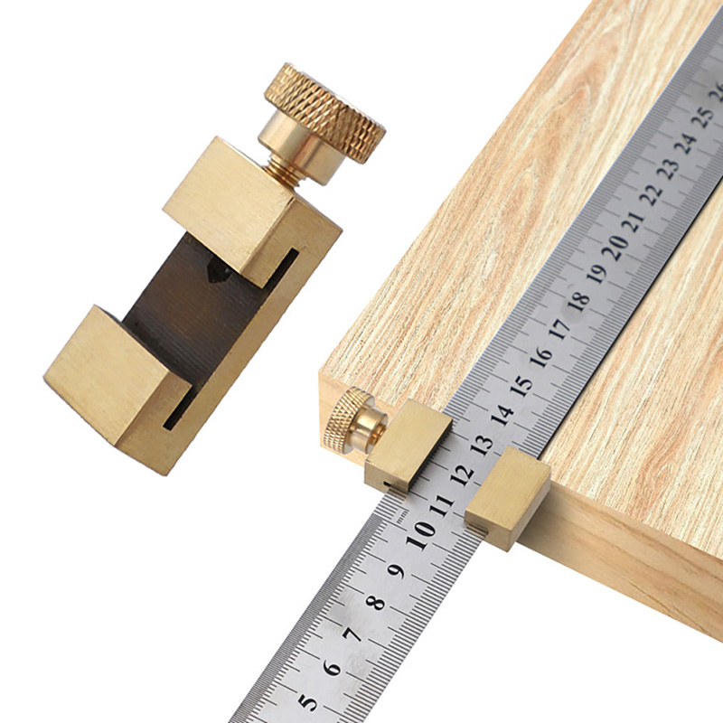 Woodworking Scriber Steel Ruler Locator Positioning Adjustment Block DIY Tool Processed By Precision Equipment