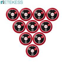 10 個retekess T117 レストランポケットベル通話ページャ 433 433mhzのワイヤレスウェイターコールボタントランスミッタカフェ顧客サービスナース