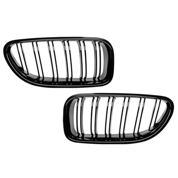 ABS Gloss Black Automotive Grille Kidney Racing Grille For BMW 2012 2013 2014 2015 2016 2017 M6 640i 650i F06 F12 F13 image