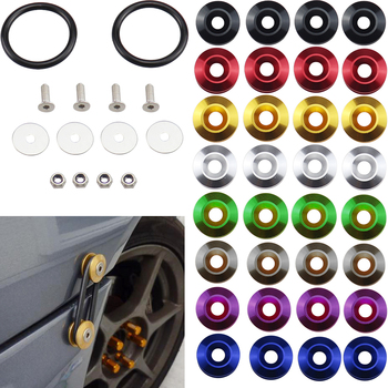 1 Set Aluminum Car Bumper Quick Release Fasteners Kit Fender Washer For BMW e60 e90 Honda Civic Subaru Impreza & Universal JDM image