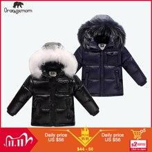 11.11 jaqueta de inverno parka para meninos casaco de inverno, 90% para baixo meninas jaquetas roupas infantis roupa de neve vestuário crianças outerwear menino