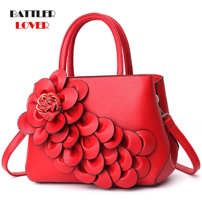 Luxury Handbags Women Bags Girl Designer PU Leather Floral Tote Bag Ladies Casual 3D Flower Messenger Shoulder Bags Bolsos Mujer