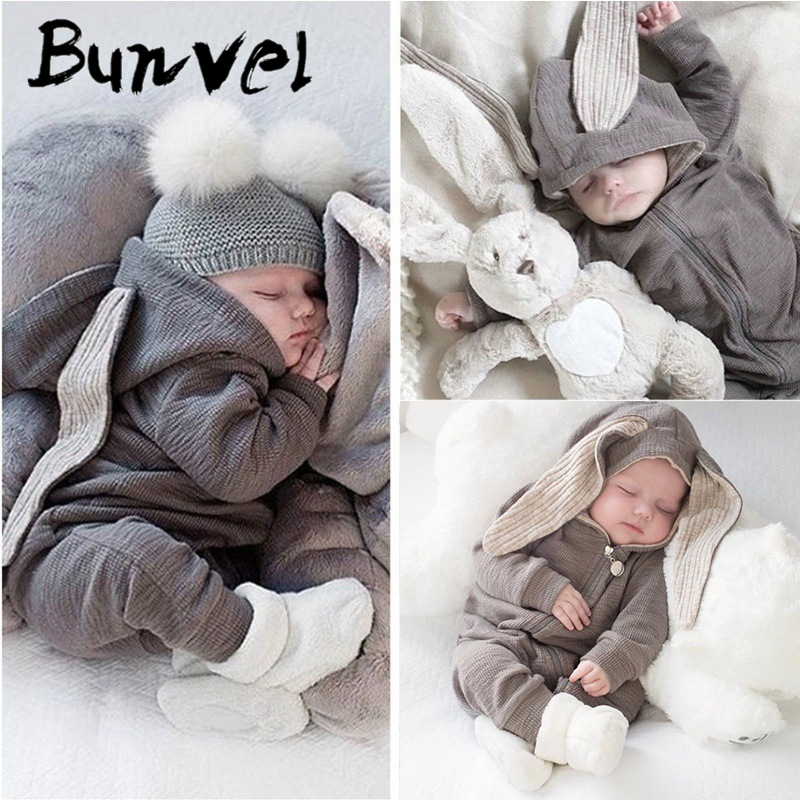 bunvel Winter   Rompers   Baby Girl One-pieces Newborn Body Suit Baby Pajama Boys Animal rabbit autumn Cute Jumpsuit Outfits 5
