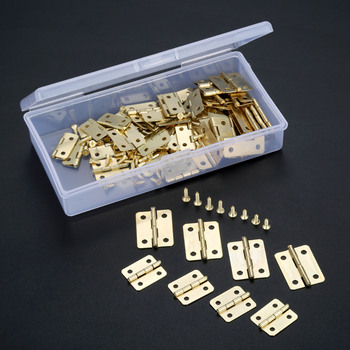 60 sztuk biżuteria drewniane pudełka dekoracyjne zawias Metal złota szafka drzwi zawias meblowy + śruby + schowek okucia meblowe tanie i dobre opinie CN (pochodzenie) Maszyny do obróbki drewna NONE Nice decorative hinges iron 18*16mm 0 71*0 63inch 23*19mm 0 91*0 75inch