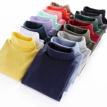 New Arrival 2019 Kids Tops Children T-shirt Autumn Winter Basic Turtleneck Shirt Tees Cotton T Shirt for Boys T Shirt for Girls