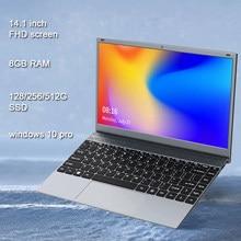 14.1 pouces 8GB DDR4 RAM étudiant ordinateur Intel processeur Bluetooth WiFi Windows 10 ordinateur portable pleine taille clavier étudiant ordinateur portable