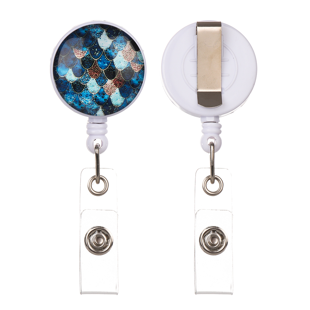 Fashion New Design Retractable Nurse Badge Reel Clip IC Identification Card Plate Holder Key Ring Anti-Lost Clip Office Supplies
