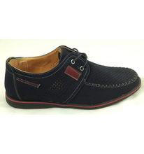 Timbos Zapatos - 120818 Blucher para Hombre, Color Azul, Material Nobuk, Cierre Cordones, Colección Verano