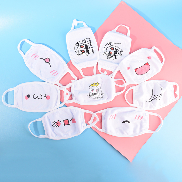 1Pc Face Mask Chic Anti Dust Mask Emotiction Masque Kpop Masks Kpop Cotton Cute Anime Cartoon Mouth Muffle Mouth Mask 1