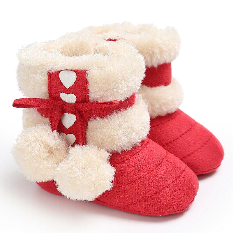 Baby Girls Boys Soft Sole Booties Snow Boots Infant Toddler Newborn Crib Shoes
