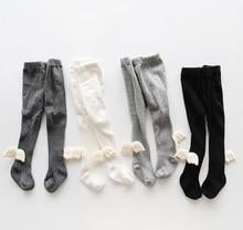 new winter Autumn warm tight Children Even Panty Hose Angel Wing Girl Baby Socks