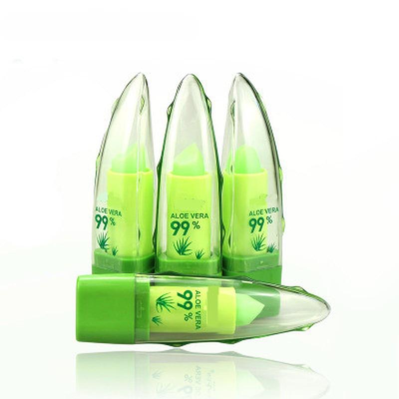 Aloe Vera Natural Moisturizer Lipstick Temperature Changed Color Lip Balm Natural Magic Pink Protector Lips Cosmetics