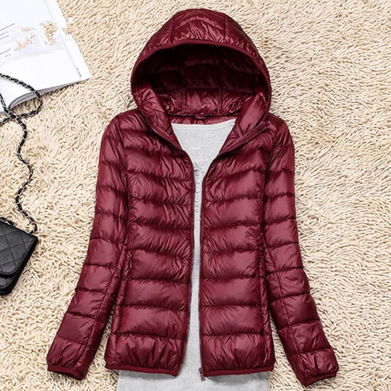Women Down Coats Fashion Korean Woman Down Coat Jacket Winter Woman Thick Padded Hooded Coat Down Jacket Woman Hooded Plus Size