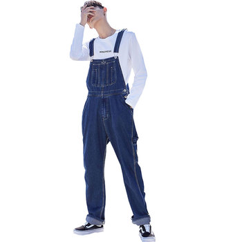 Jeans For Men Men's Plus Size Overalls Large Size Huge Denim Bib Pants Fashion Pocket Jumpsuits Men's Denim overalls raw hem denim overalls