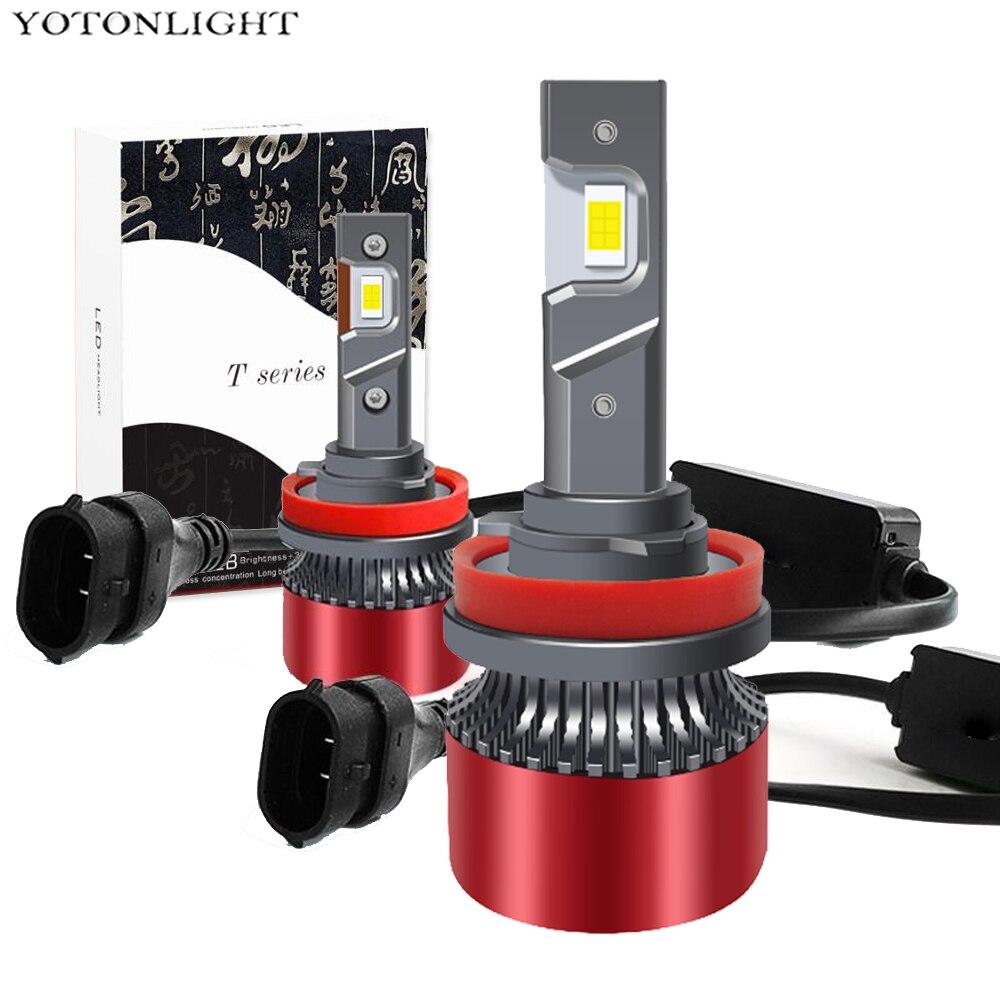Мини 4300K Led H11 H1 H3 H7 H4 Светодиодная лампа для фар Canbus 9005 Hb3 9006 Hb4 55w 6000K Hir2 9004 9007 H13 лампа без ошибок 16000lm