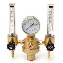 Аргон CO2 манометр регулятор давления Mig Tig расходомер контрольный клапан сварочный газовый двойной трубчатый счетчик пузырьков аквариумный расходомер