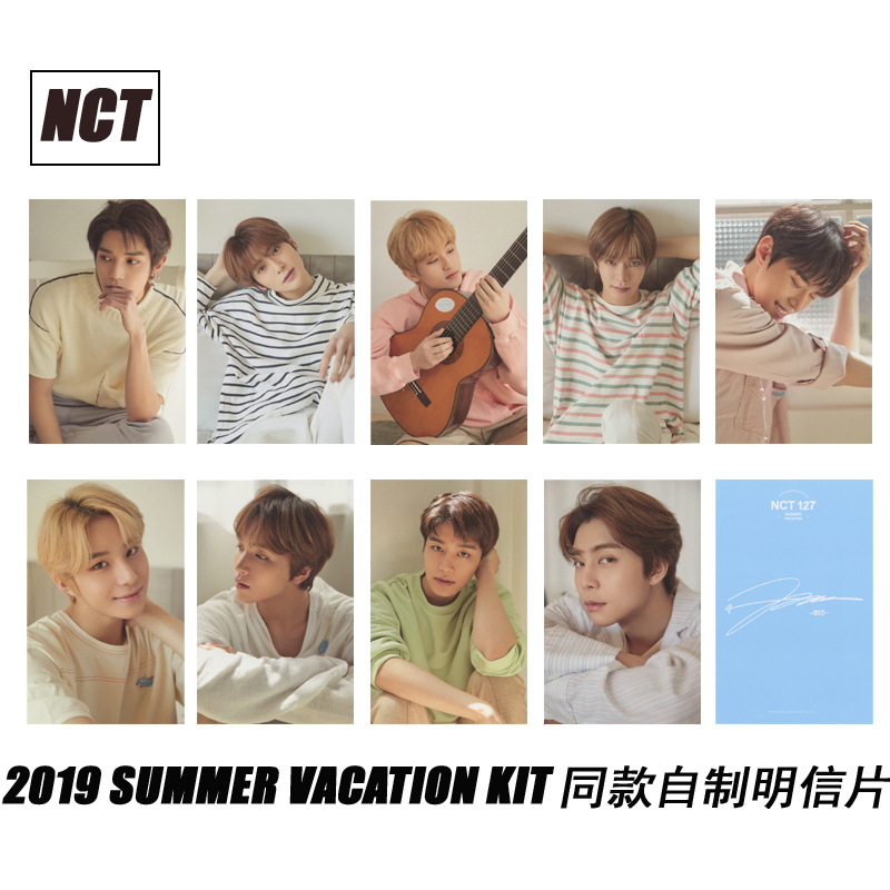 9pcs/set Kpop Nct Photo Card SUMMER VACATION KIT Album Good Quality HD Photocard Nct 127 Dream Kpop For Fans Collection