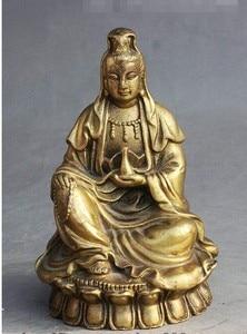 Image 2 - YM 308 Vase bouddhiste chinois en laiton