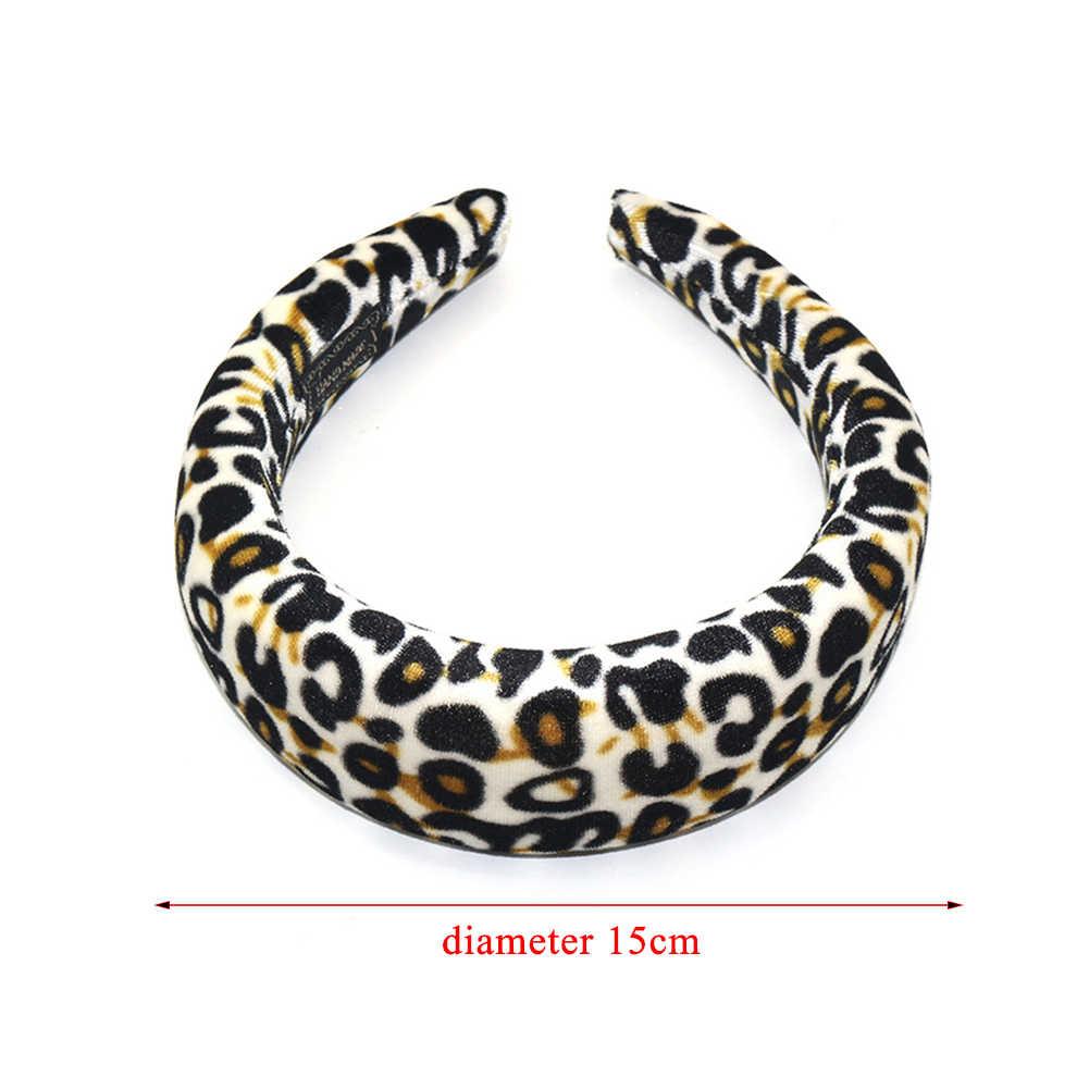 Модная женская Широкая мягкая губка леопардовая повязка обруч для волос повязка для волос Сексуальная Женская повязка для волос аксессуар заколки для девочек