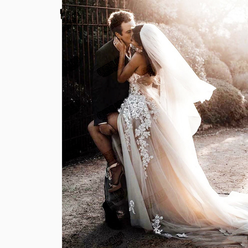 Open Back Bohemian Wedding Dresses 2020