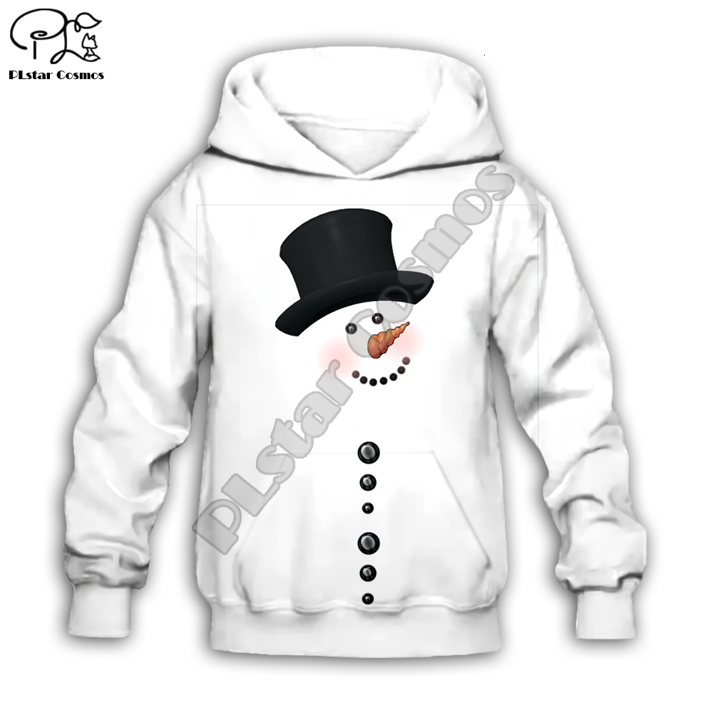 Snowman Christmas Black Kids Sweatshirt