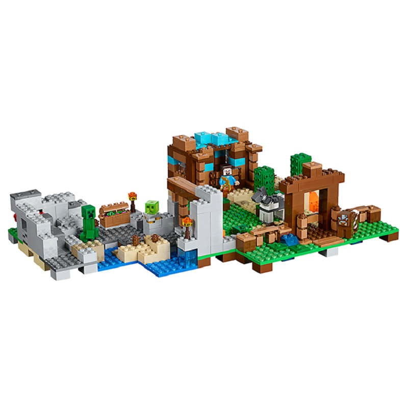 The Crafting Box 2.0 Building Block With Steve Action Figures Compatible LegoINGlys MinecraftINGlys Sets Toys For Children 21135 2