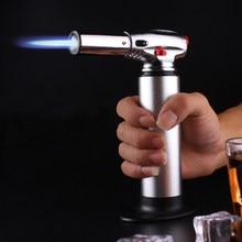 Kitchen Outdoor Baking BBQ Lighter Spray Gun Torch Pipe Gas Jet Windproof Camping Lighters Turbo Butane Cigarette Cigar 1300 C