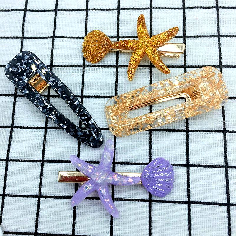 14 Pcs 6 5cm Mixed Color Included 8 Pcs Acrylic Hairpins And 6 Pcs Acrylic Starfish Hair Clips For Girls Cute Hair Accessories in Women 39 s Hair Accessories from Apparel Accessories