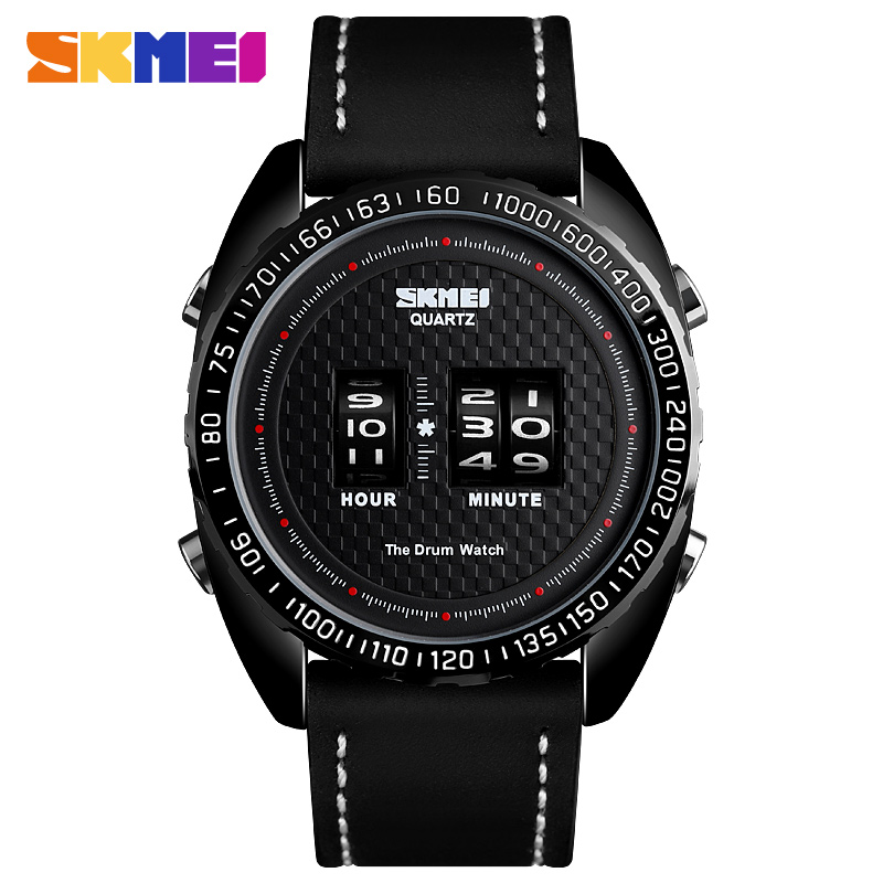 <font><b>SKMEI</b></font> Business Watch Men Fashion Creative Teenager Quartz Watches Leather Strap Waterproof Wristwatches Relogio Masculino <font><b>1516</b></font> image