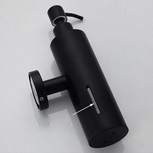 Image 5 - 200Mlติดผนังห้องอาบน้ำขวดปั๊มสแตนเลสสตีลแชมพูสีดำ