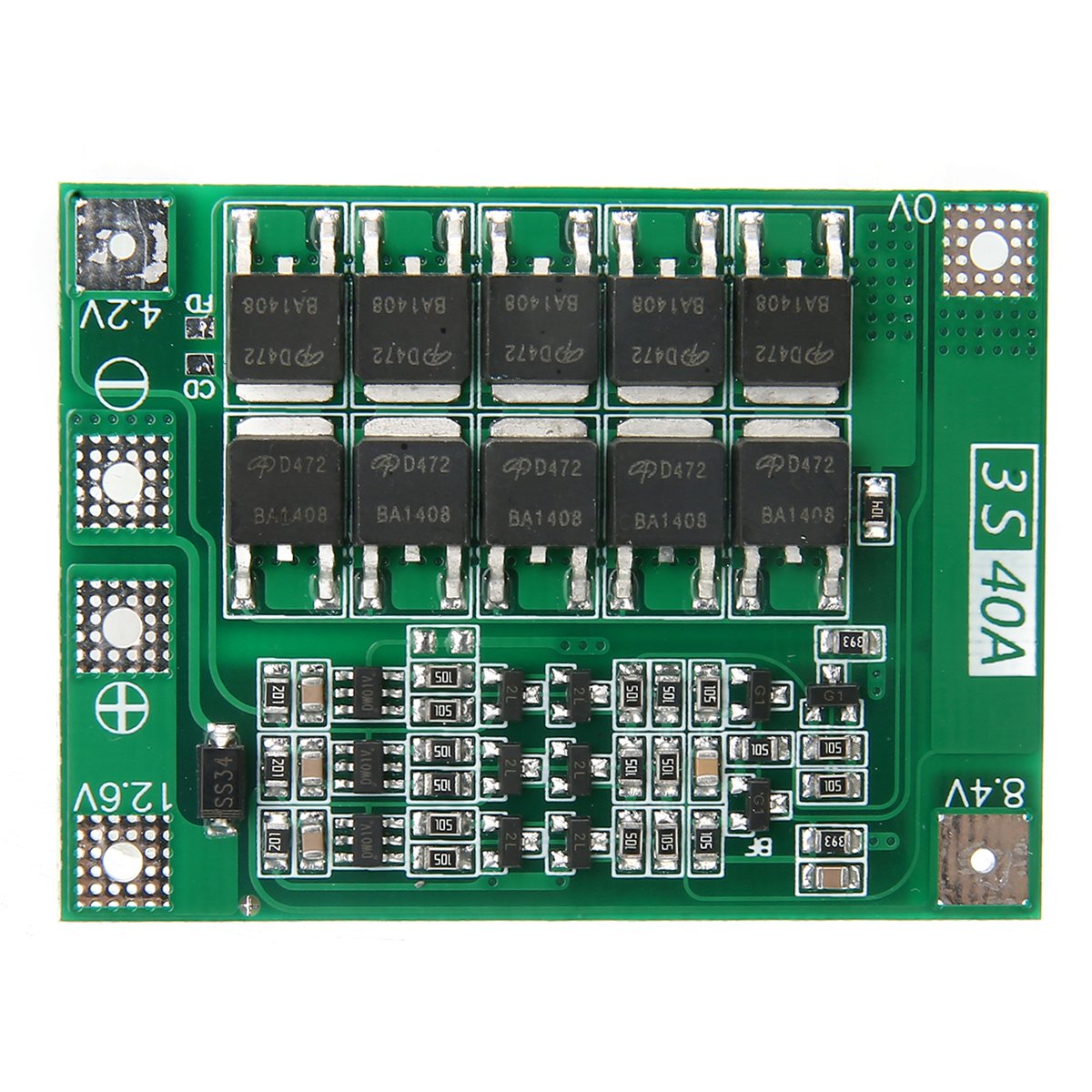 New Arrival 1pc 3S 11.1V 12.6V 40A 18650 Li-ion Lithium Battery BMS Protection Board Enhanced Version Mayitr
