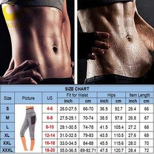 Image 5 - LAZAWG Womens Slimming Pants Hot Neoprene for Weight Loss Fat Burning Sweat Sauna Capris Leggings Shapers Hot Sweat Pants Waist